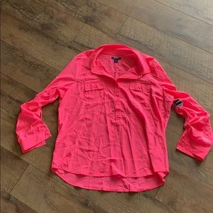 Old Navy Neon Pink Button-Down Shirt NWT Size XL